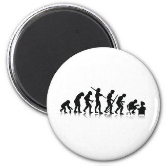 Nerd Evolution Fridge Magnet