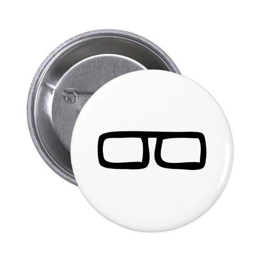 nerd eyeglasses button