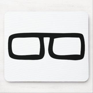 nerd eyeglasses mouse mat