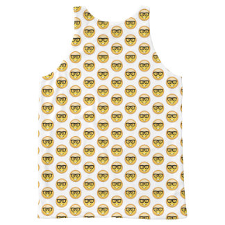 Nerd Face Emoji All-Over-Print Tank Top
