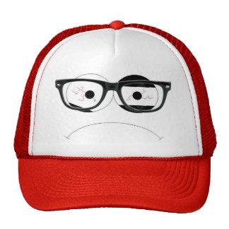 nerd face mesh hat