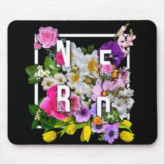 Nerd Flowers Mouse Pad