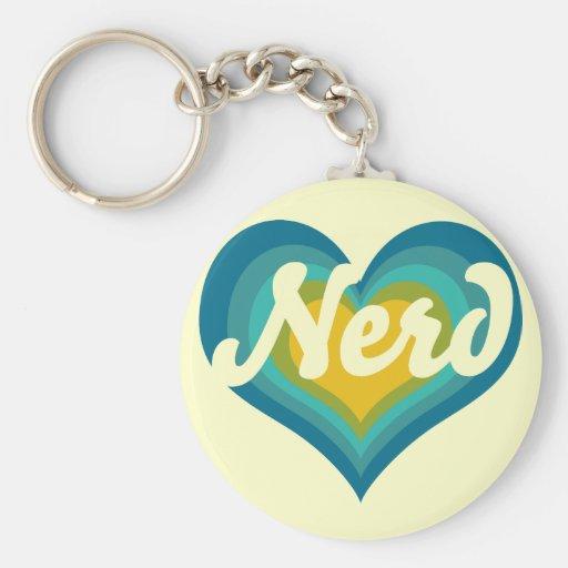 Nerd Girl Key Chain