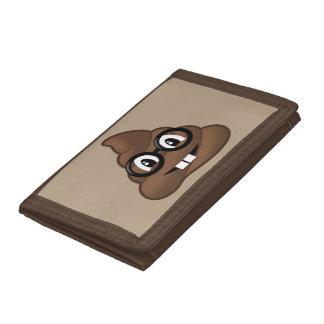 Nerd Glasses Poop Emoji Trifold Wallet