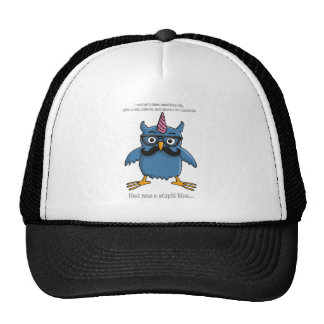 nerd hipster owl with mustache gorros