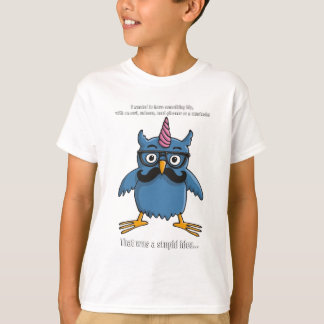 nerd hipster owl with mustache playera