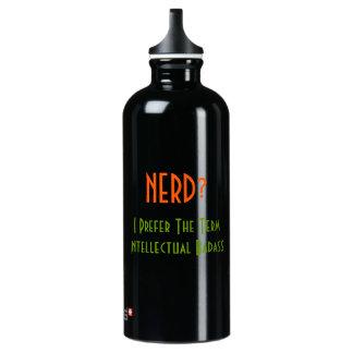 Nerd?.. Intellectual Badass | Funny Water Bottle SIGG Traveler 0.6L Water Bottle