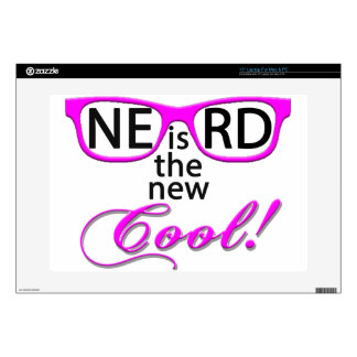 NERD is the new cool - pink script Laptop Skins