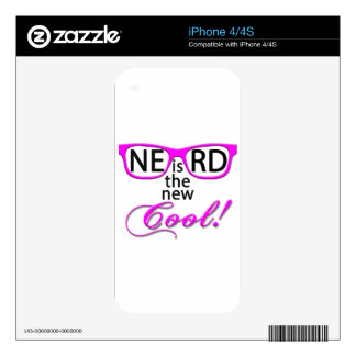 NERD is the new cool - pink script Skins For iPhone 4