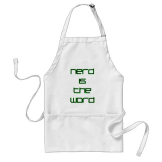 Nerd is the Word Adult Apron