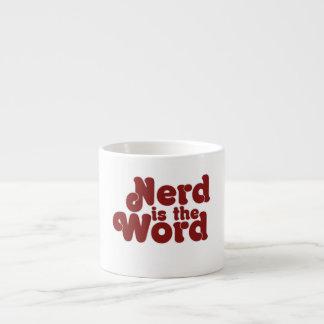 Nerd is the Word Espresso Cup