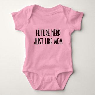 nerd just like mom baby bodysuit