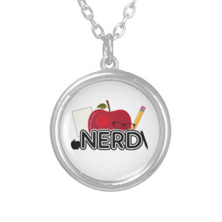 Nerd - Logo Silver Plated Necklace