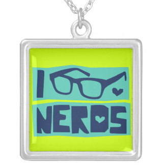 Nerd Love Silver Plated Necklace
