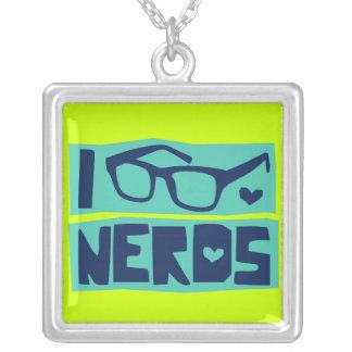 Nerd Love Square Pendant Necklace