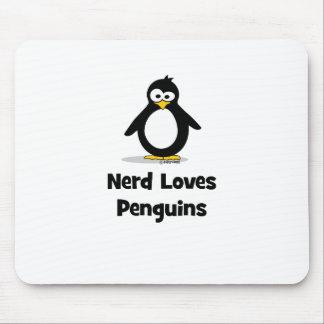 Nerd Loves Penguins Mouse Pad