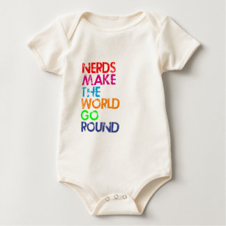 Nerd meke the world go round baby bodysuit
