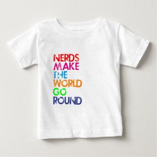 Nerd meke the world go round baby T-Shirt