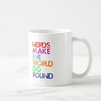 Nerd meke the world go round coffee mug