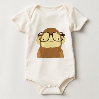nerd monkey baby bodysuit