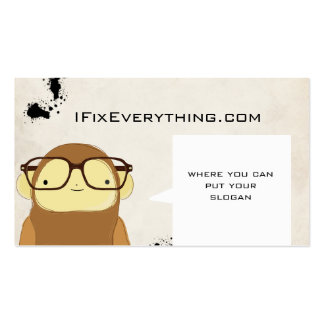 nerd monkey business business card