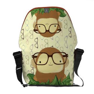 nerd monkey messenger bag
