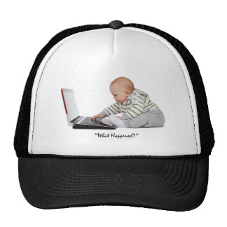 Nerd on laptop T-shirt and Gift designs Trucker Hat