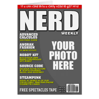 Nerd Personalized Magazine Cover Card