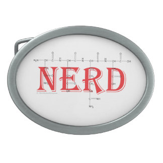 'NERD' polypeptide belt buckle.