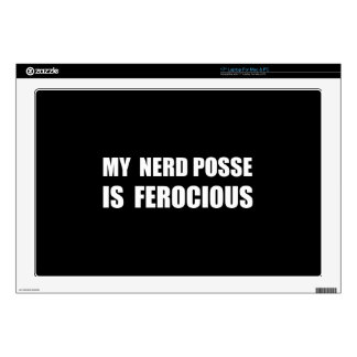 "Nerd Posse Decal For 17"" Laptop"