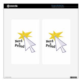 Nerd & Proud Kindle Fire Decal