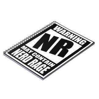Nerd Rage Warning Label Spiral Notebook