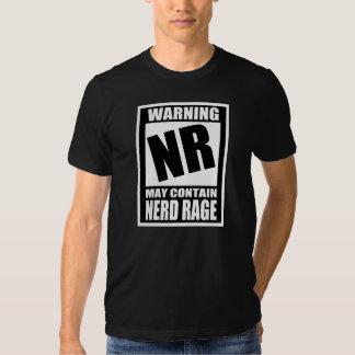 Nerd Rage Warning Label T-shirt