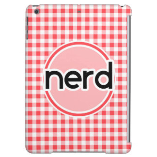 Nerd Red and White Gingham Case For iPad Air