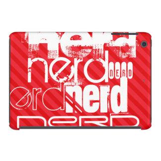 Nerd; Scarlet Red Stripes iPad Mini Covers