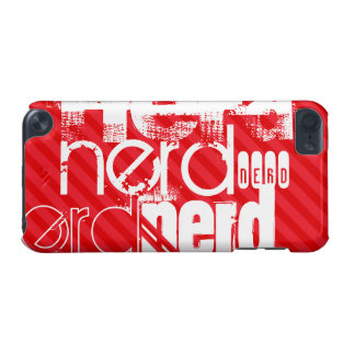 Nerd; Scarlet Red Stripes iPod Touch 5G Cover