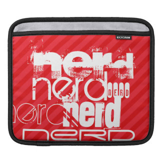 Nerd; Scarlet Red Stripes Sleeve For iPads