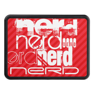 Nerd; Scarlet Red Stripes Tow Hitch Covers