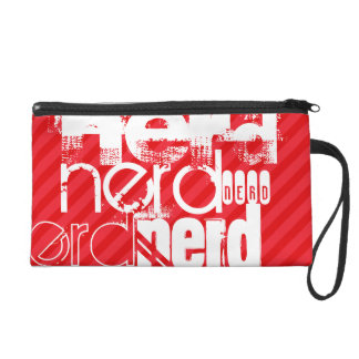 Nerd; Scarlet Red Stripes Wristlet Purse