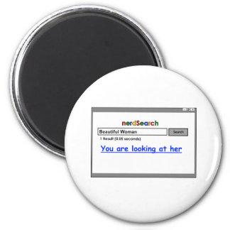 Nerd Search for women 2 Inch Round Magnet