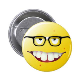 Nerd Smiley Face 2 Inch Round Button