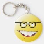 Nerd Smiley Face Keychain
