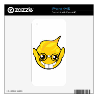 nerd smiley face iPhone 4 decal