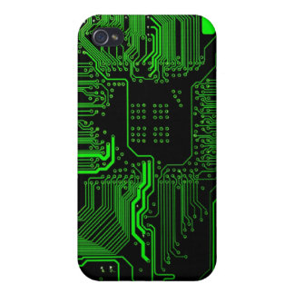 Nerd Technology Circuit Board Pern iPhone 4/4S Cases
