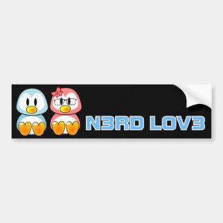 Nerd Valentine: Computer Geek Leet Speak Love Bumper Sticker