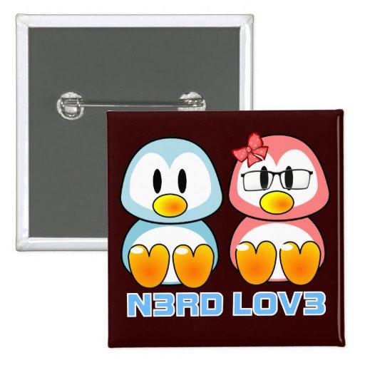 Nerd Valentine: Computer Geek Leet Speak Love 2 Inch Square Button