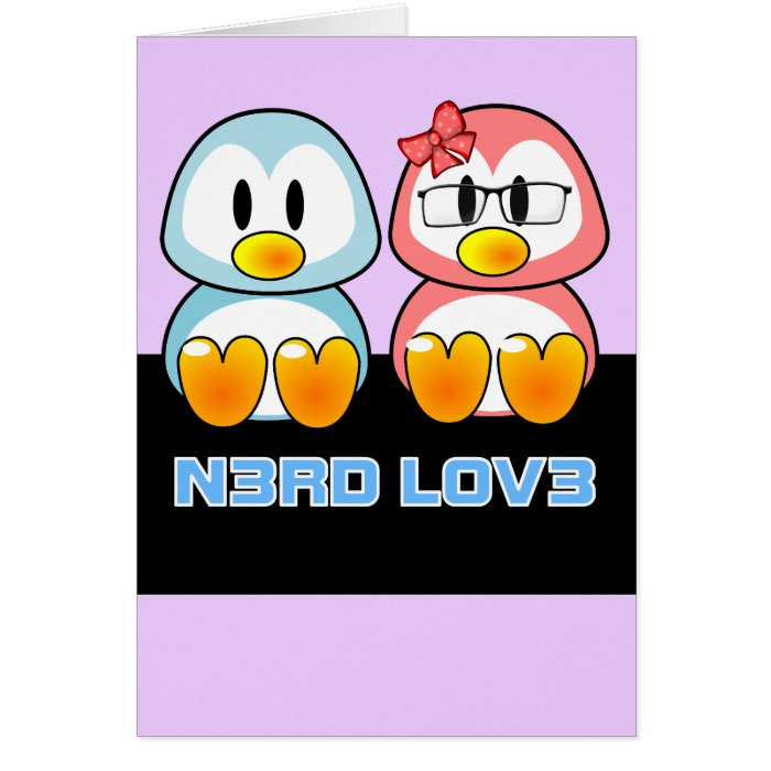 Nerd Valentine: Computer Geek Leet Speak Love Card