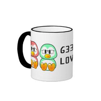 Nerd Valentine: Computer Geek Leet Speak Love Ringer Coffee Mug