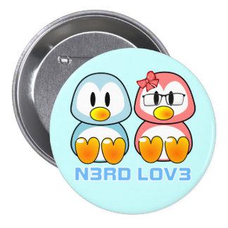 Nerd Valentine: Computer Geek Leet Speak Love Pinback Button