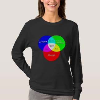 Nerd Venn Diagram ladies long-sleeve T T-Shirt